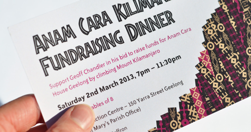Anam Cara House dinner ticket