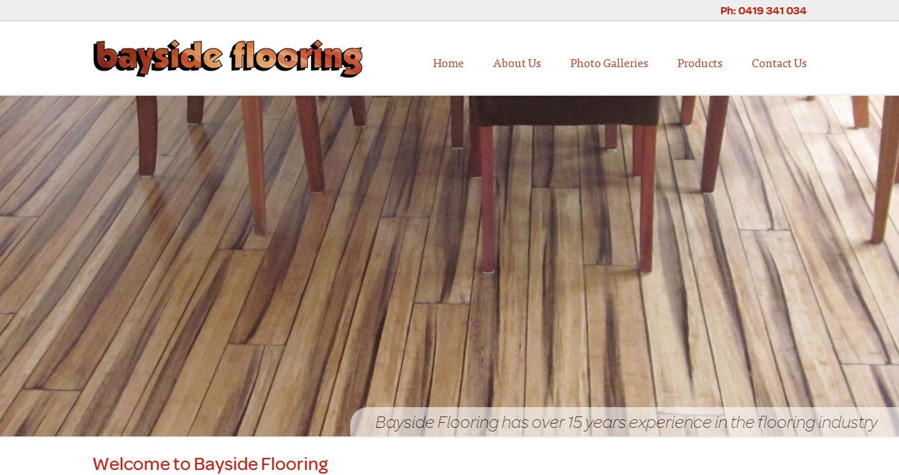 Bayside Flooring website