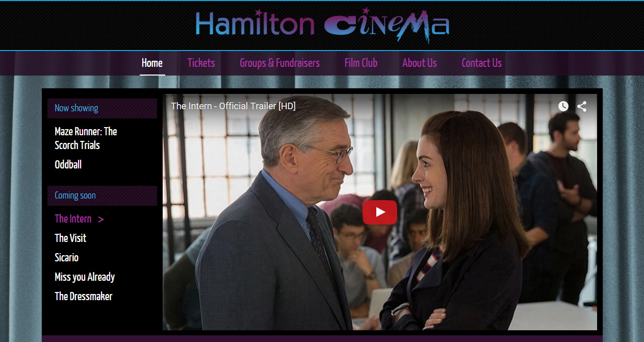 Hamilton Cinema website