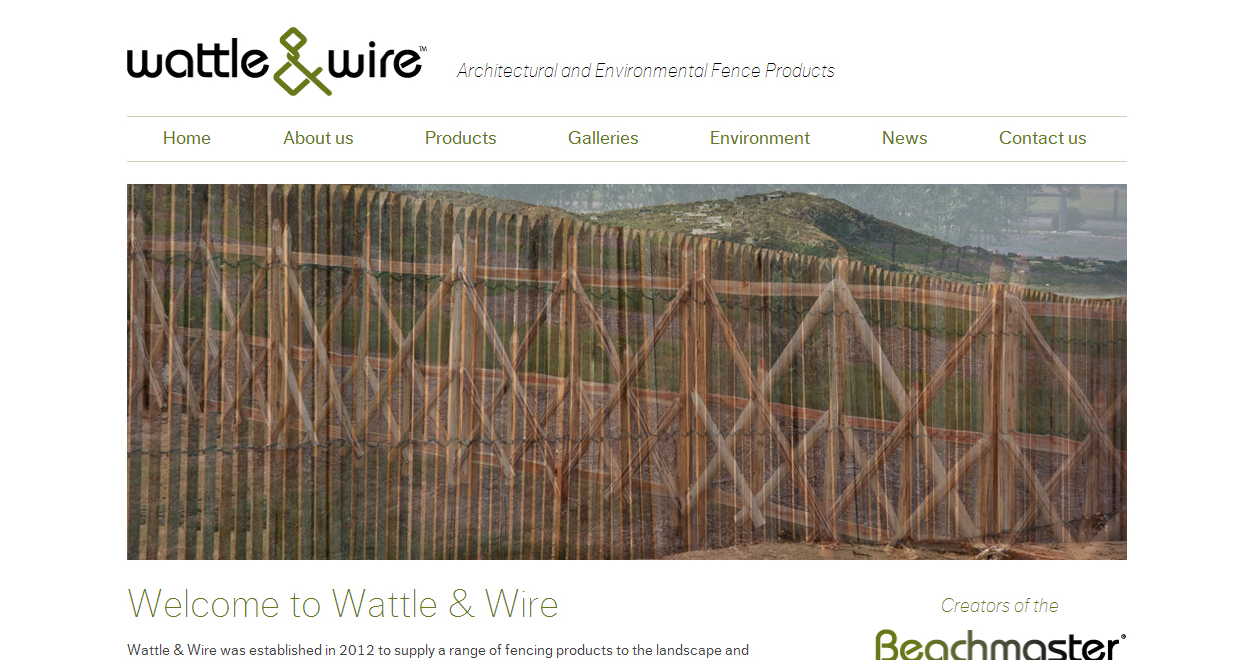 Wattle & Wire website