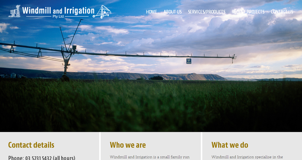 Windmill and Irrigation website