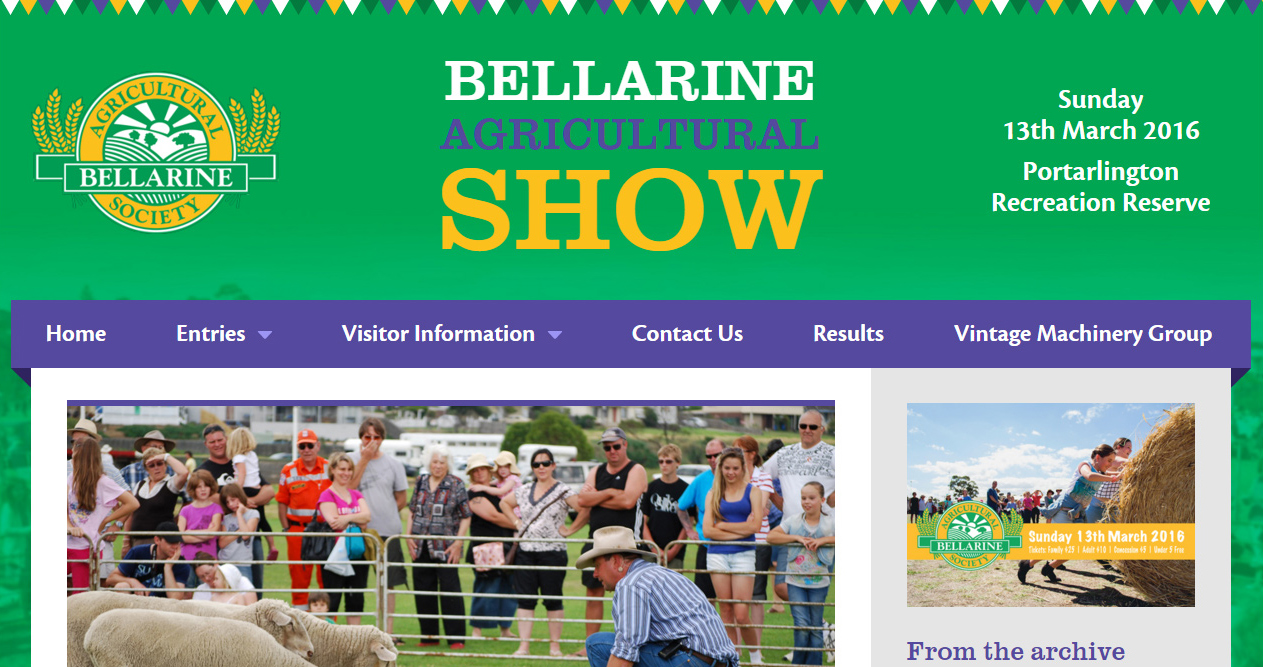 Bellarine Agricultural Show website
