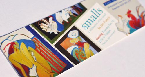 'Smalls' Exhibition invitation