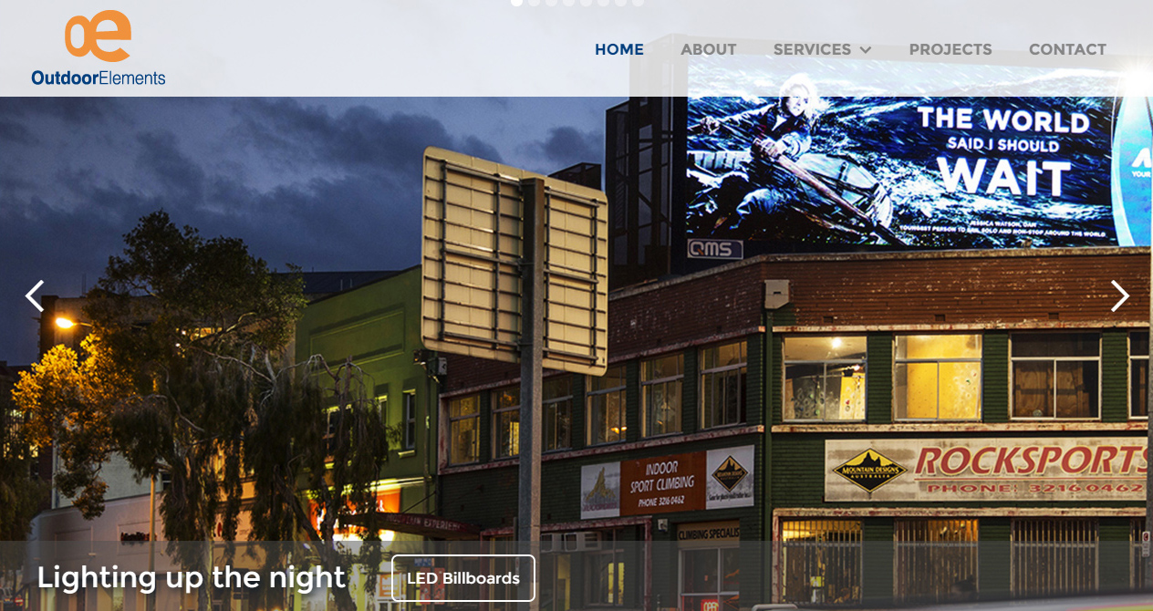 Outdoor Elements website