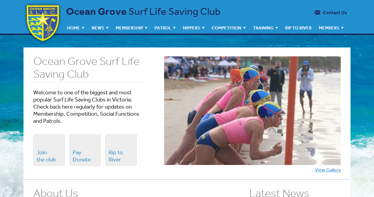 Ocean Grove SLSC website