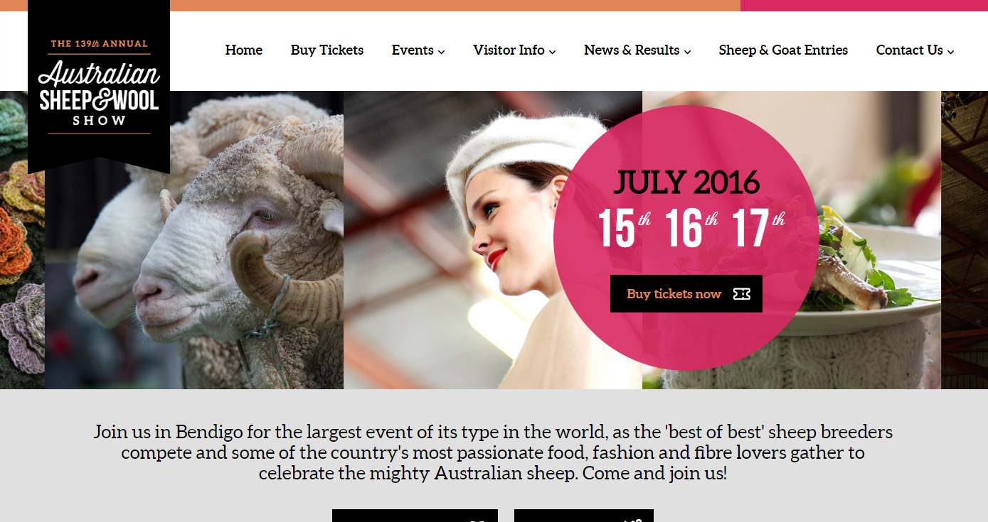 Australian Sheep & Wool Show website
